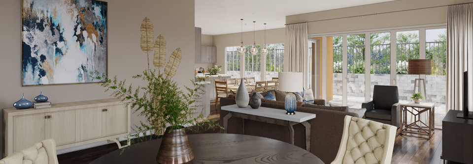 Transitional Classy Living And Dining Room O | Decorilla With Transitional Driftwood Casual Dining Tables (View 20 of 25)