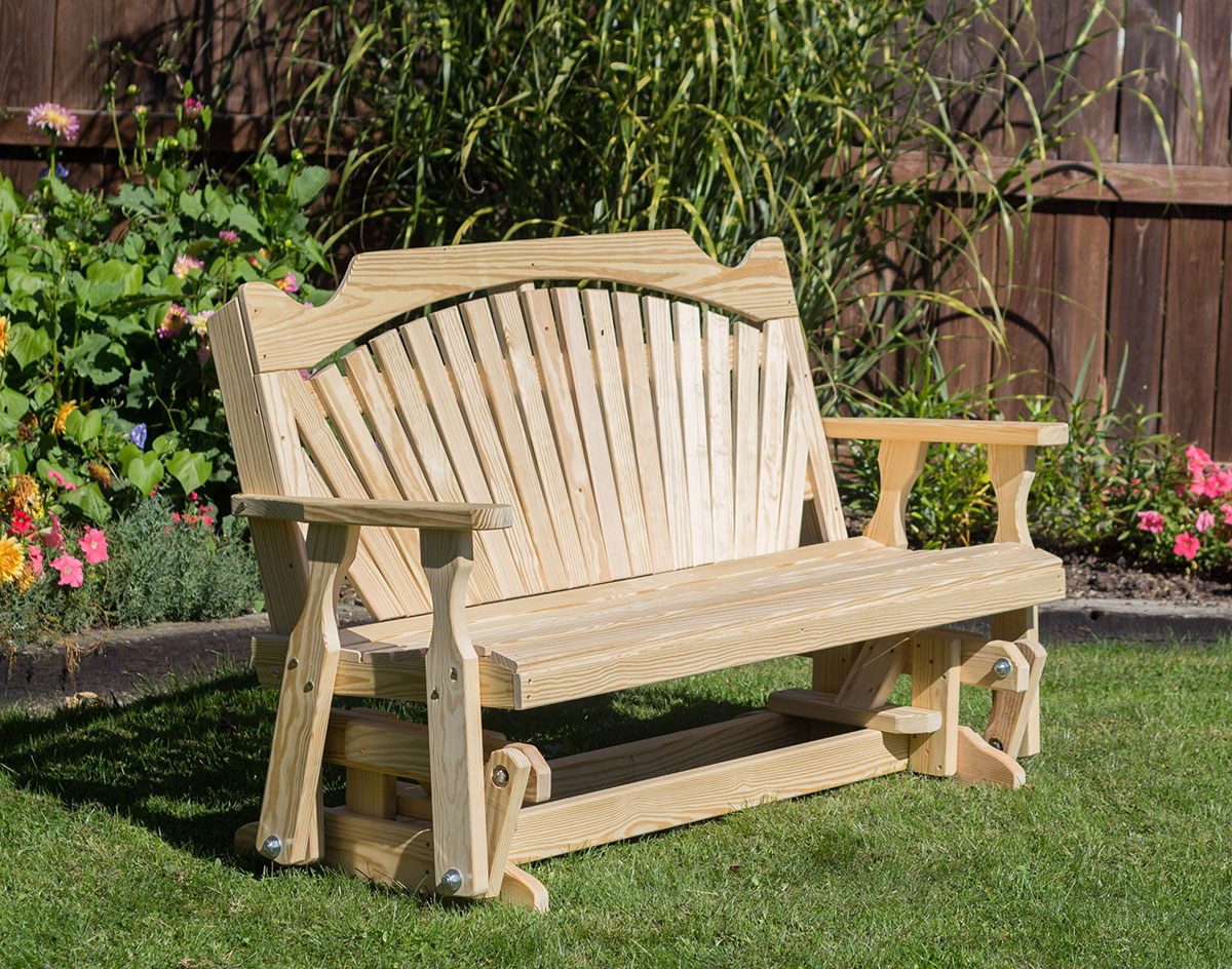 Treated Pine Fanback Glider Regarding Fanback Glider Benches (View 16 of 25)