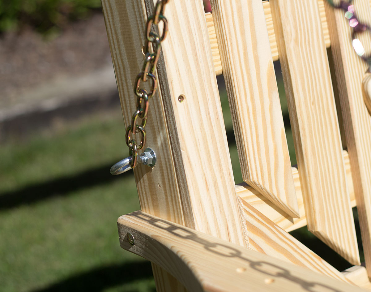 Treated Pine High Crossback Porch Swing Regarding Porch Swings With Chain (View 24 of 25)