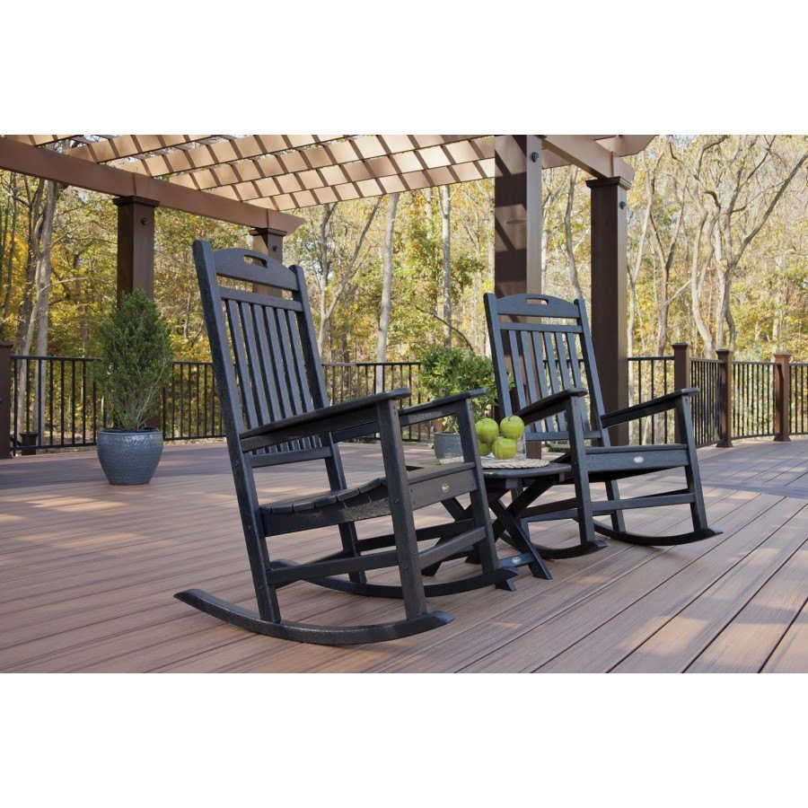 Trex® Outdoor Furniture™ Yacht Club 3 Piece Seating Ensemble Throughout Outdoor FurnitureYacht Club 2 Person Recycled Plastic Outdoor Swings (View 9 of 25)