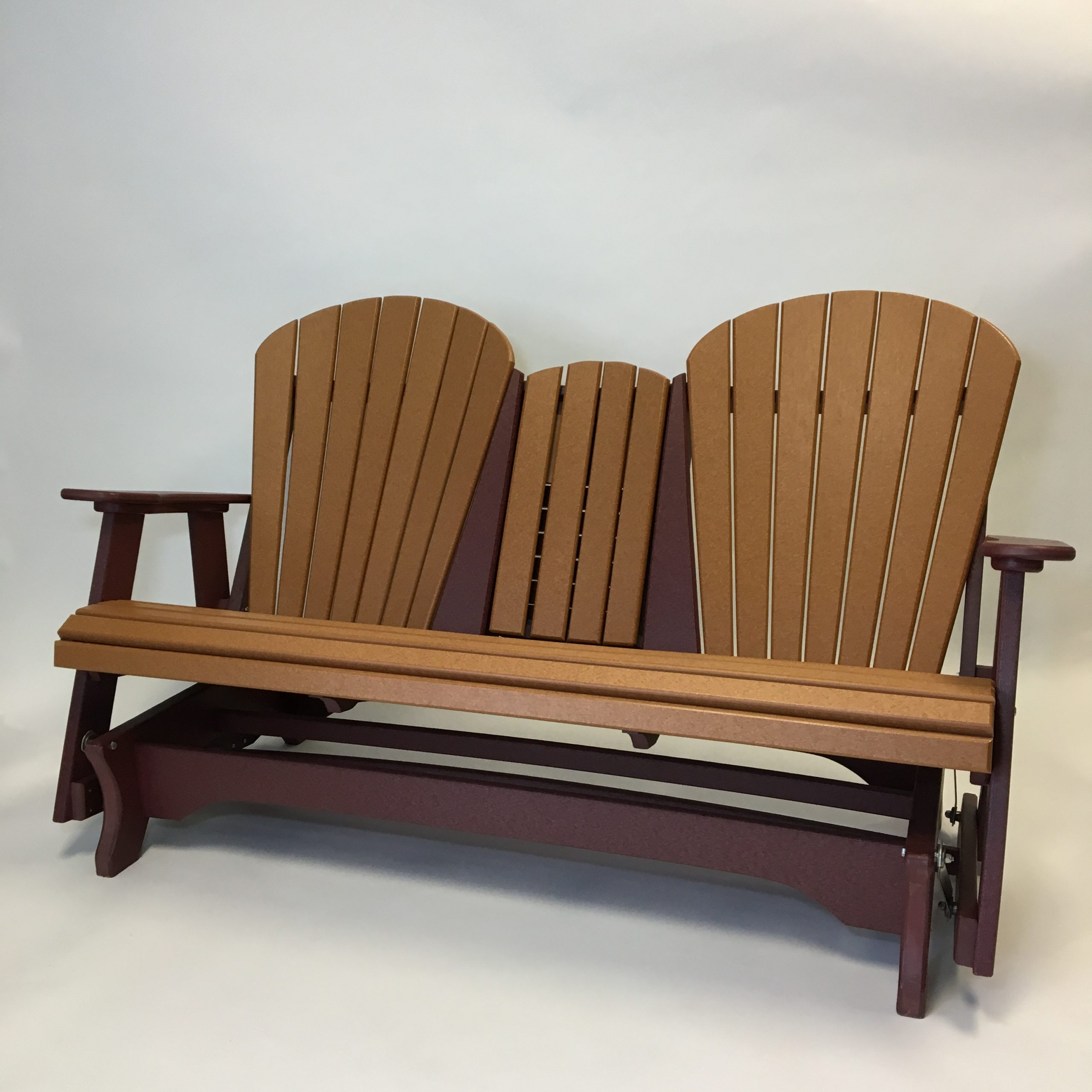Triple Fanback Glider – The Amish Craftsmen Guild Ii Inside Fanback Glider Benches (View 9 of 25)