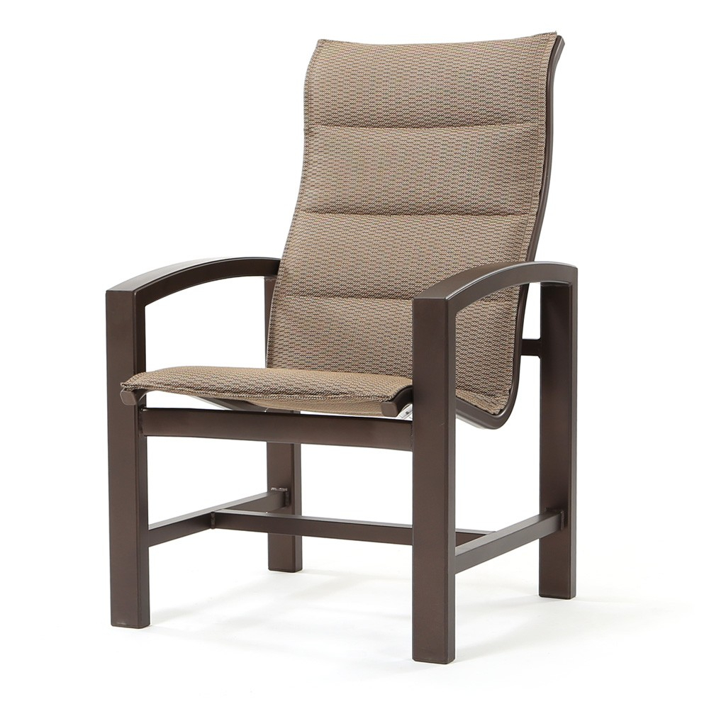 Tropitone Lakeside Padded Sling High Back Dining Chair For Padded Sling High Back Swivel Chairs (View 18 of 25)