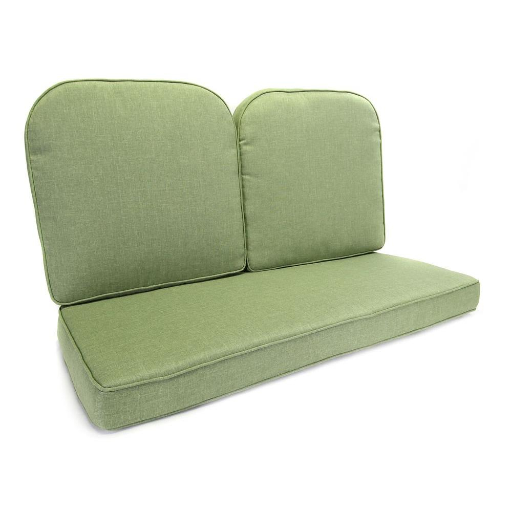Tropitone Ravello Replacement Cushions 660916Ch Small Inside Loveseat Glider Benches With Cushions (View 18 of 25)