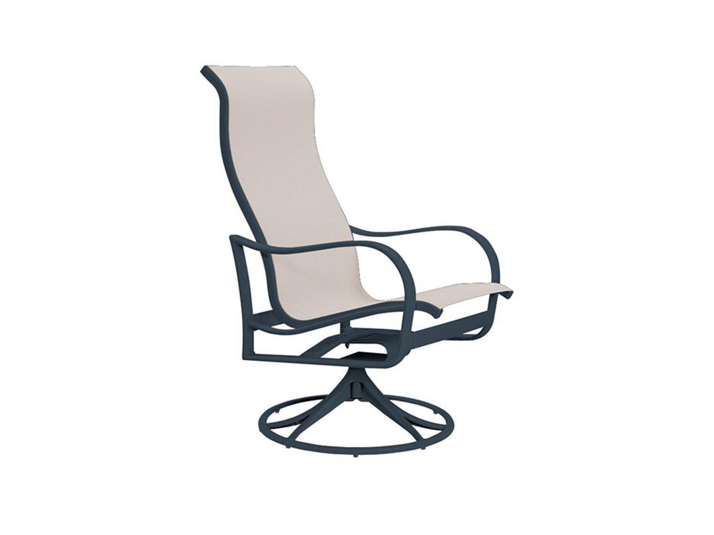 Tropitone Shoreline Sling High Back Swivel Rocker | 960270 For Sling High Back Swivel Chairs (View 24 of 25)