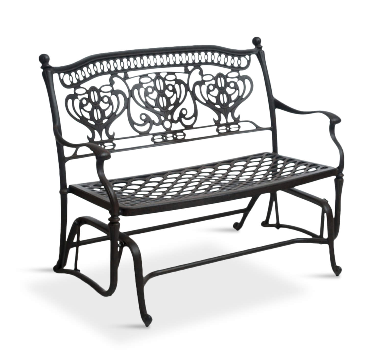 Turin Double Glider Regarding Metal Powder Coat Double Seat Glider Benches (View 18 of 25)
