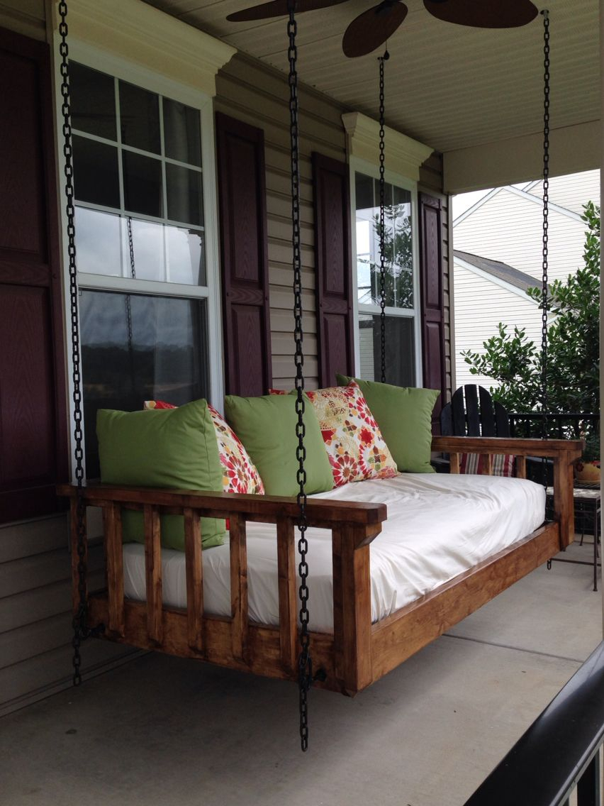 Turned An Old Twin Mattress Into The Best Couch Bed Swing With Day Bed Porch Swings (Image 24 of 25)