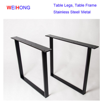 U Shape Unique Style Furniture Wood Table Black Desk Frame Stainless Steel Table Legs – Buy Stainless Steel Dining Table Legs,custom Metal Table Within Dining Tables With Black U Legs (View 3 of 25)