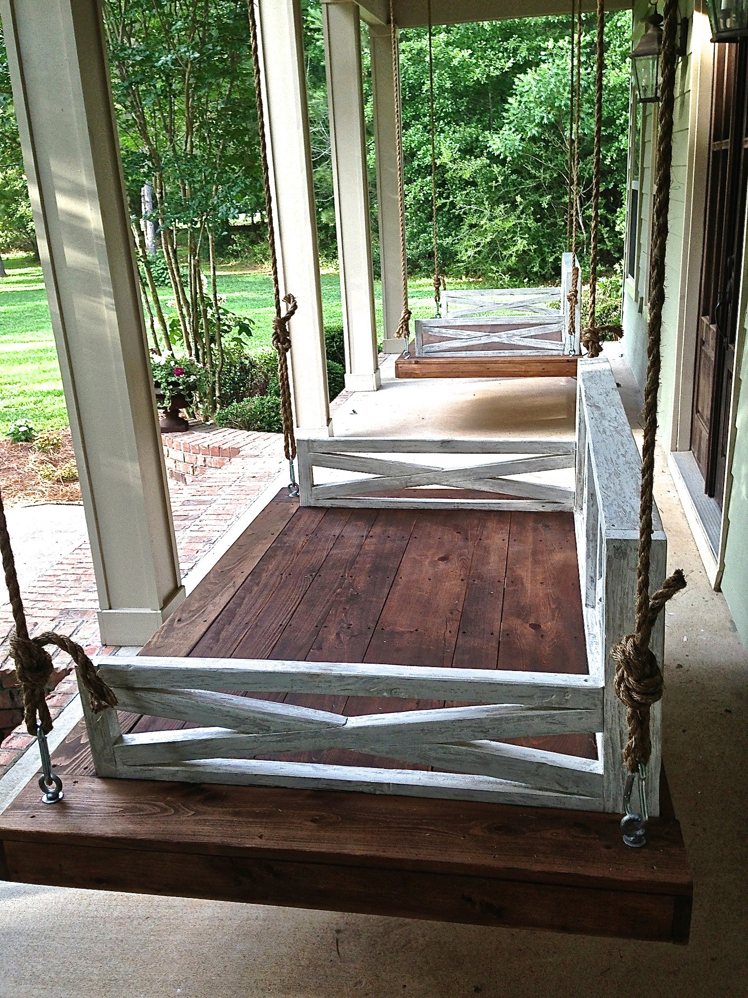 Unique Porch Swing Plans With Country Style Hanging Daybed Swings (View 25 of 25)