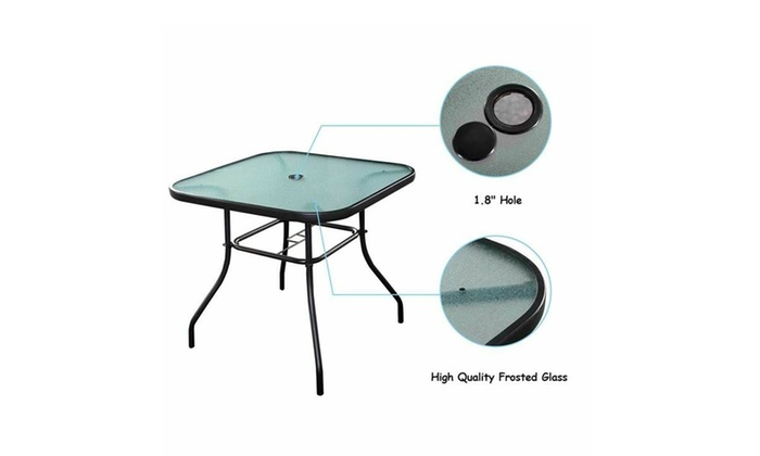 Up To 42% Off On Outdoor Furniture Garden Pool | Groupon Within Patio Square Bar Dining Tables (View 14 of 25)