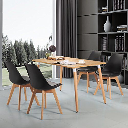 Upholstered Eames Style Dining Chair Kitchen Chairs Molded With Regard To Eames Style Dining Tables With Wooden Legs (View 19 of 25)