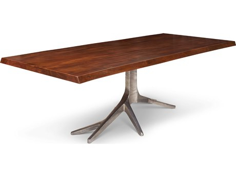 Urbia Trunk Walnut / Antique Brass 94'' Wide Rectangular Throughout Transitional Antique Walnut Square Casual Dining Tables (View 17 of 25)