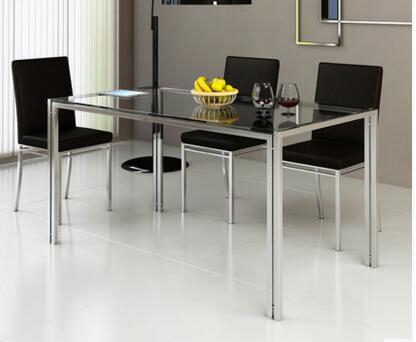 Us $102.0 15% Off|Steel Glass Dining Table And Chair Combination (View 18 of 25)