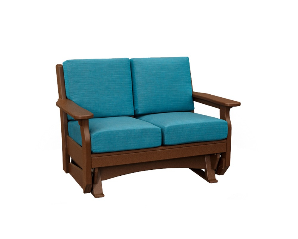 Van Buren Loveseat Glider – Green Acres Outdoor Living With Loveseat Glider Benches With Cushions (Photo 7 of 25)