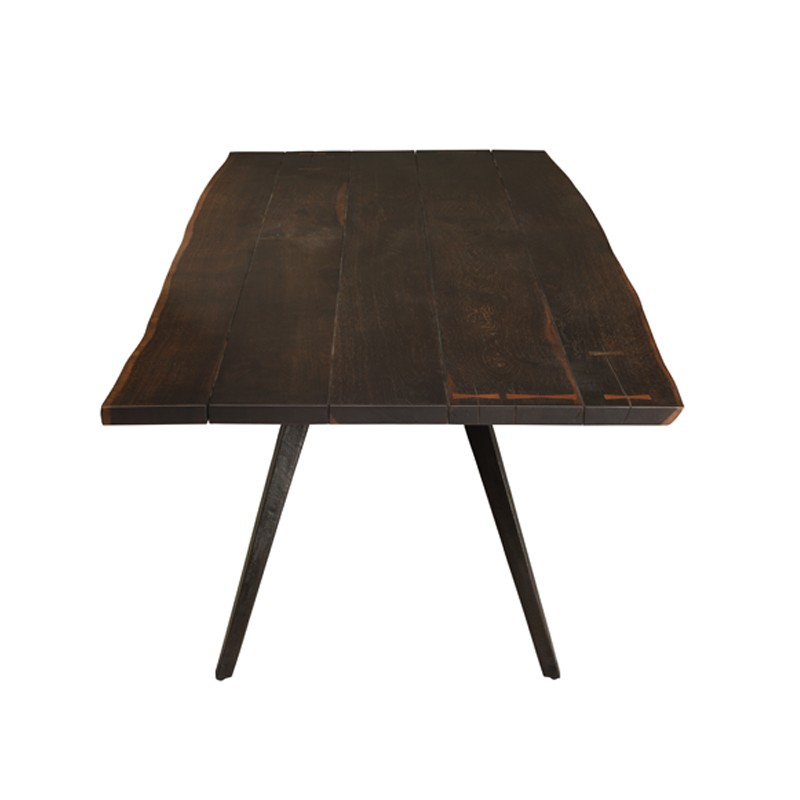 Vega – Nuevo Intended For Dining Tables In Seared Oak With Brass Detail (View 9 of 25)