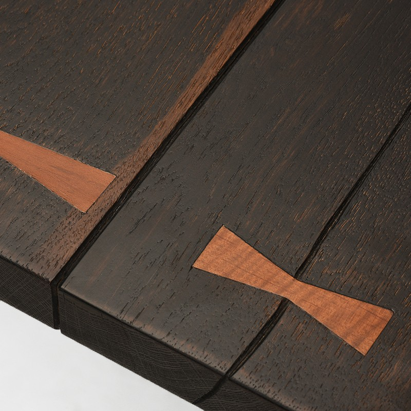 Vega – Nuevo With Regard To Dining Tables In Seared Oak With Brass Detail (Photo 23 of 25)