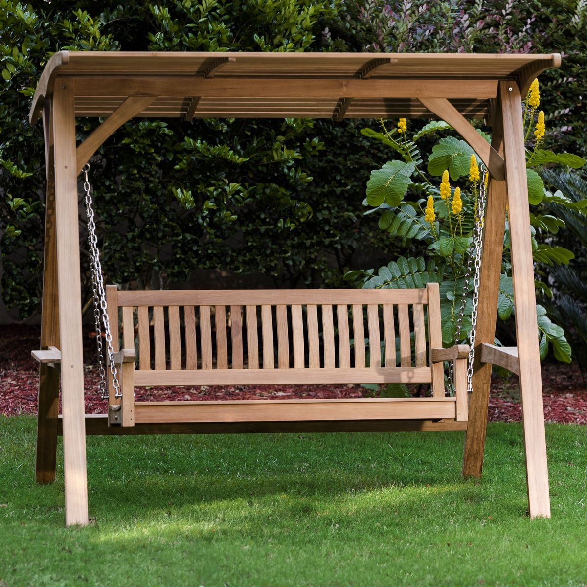 Veranda Swinging Bench With Canopy | Outdoor Garden Bench Throughout Canopy Porch Swings (Image 25 of 25)