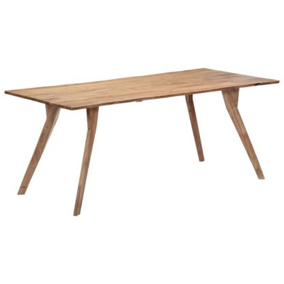 Vidaxl Dining Table 180X88X76 Cm Solid Acacia Wood Intended For Solid Acacia Wood Dining Tables (Image 22 of 25)