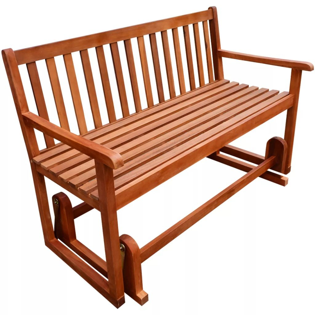 Vidaxl Porch Glider/swing Bench Acacia Wood | Vidaxl With Regard To Hardwood Porch Glider Benches (View 24 of 25)