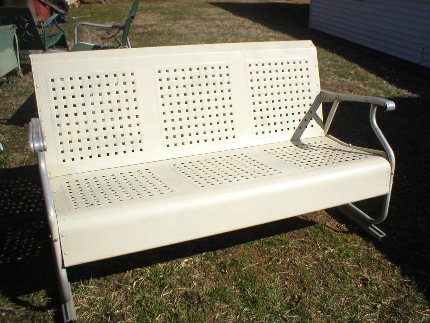 Vintage Metal Porch Glider Parts — Randolph Indoor And Inside Metal Retro Glider Benches (Photo 17 of 25)