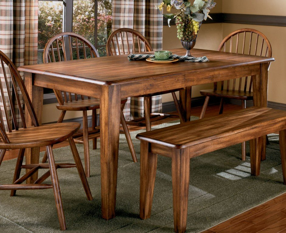 Vintage Wooden Dining Chairs Antique : Outdoor Decorations With Antique Black Wood Kitchen Dining Tables (Photo 19 of 25)