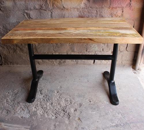 Vintage Wrought Cast Iron Mango Wood Dining Table Within Iron Dining Tables With Mango Wood (View 5 of 25)