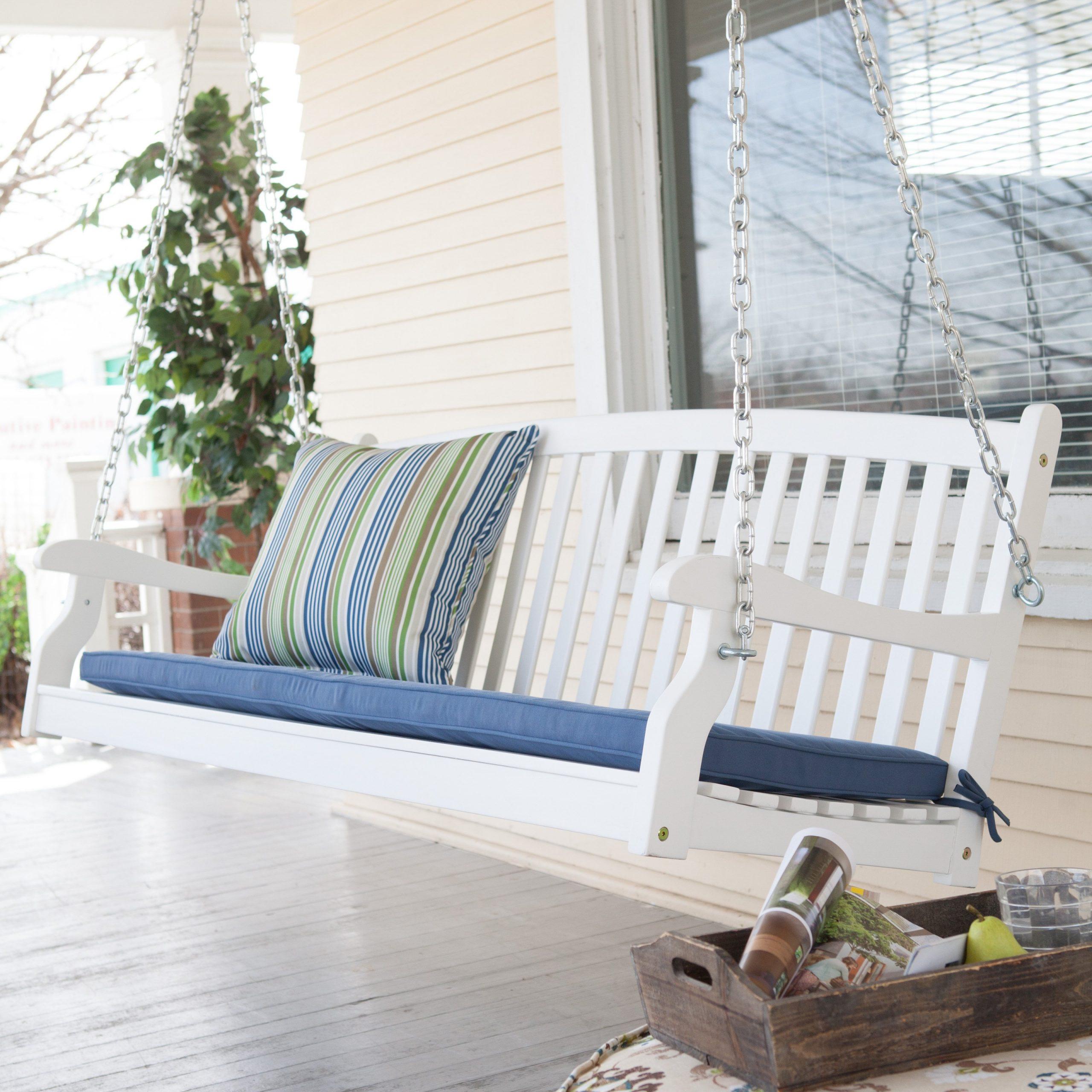 Vinyl Hanging Porch Swing Regarding Nautical Porch Swings (View 9 of 25)