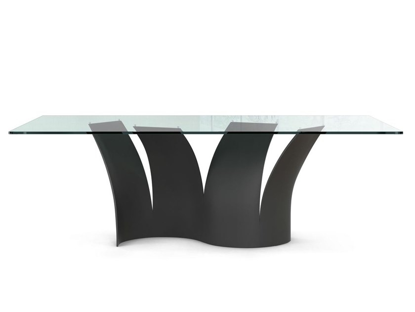 Voiles | Tableroche Bobois Design Maurice Barilone With Steel And Glass Rectangle Dining Tables (View 6 of 25)