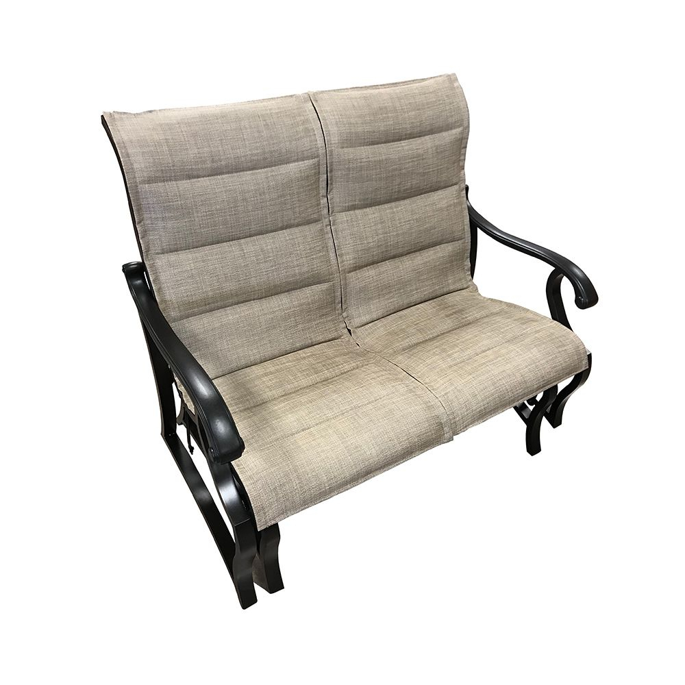 Volare Padded Sling Double Glider Within Padded Sling Double Glider Benches (View 21 of 25)