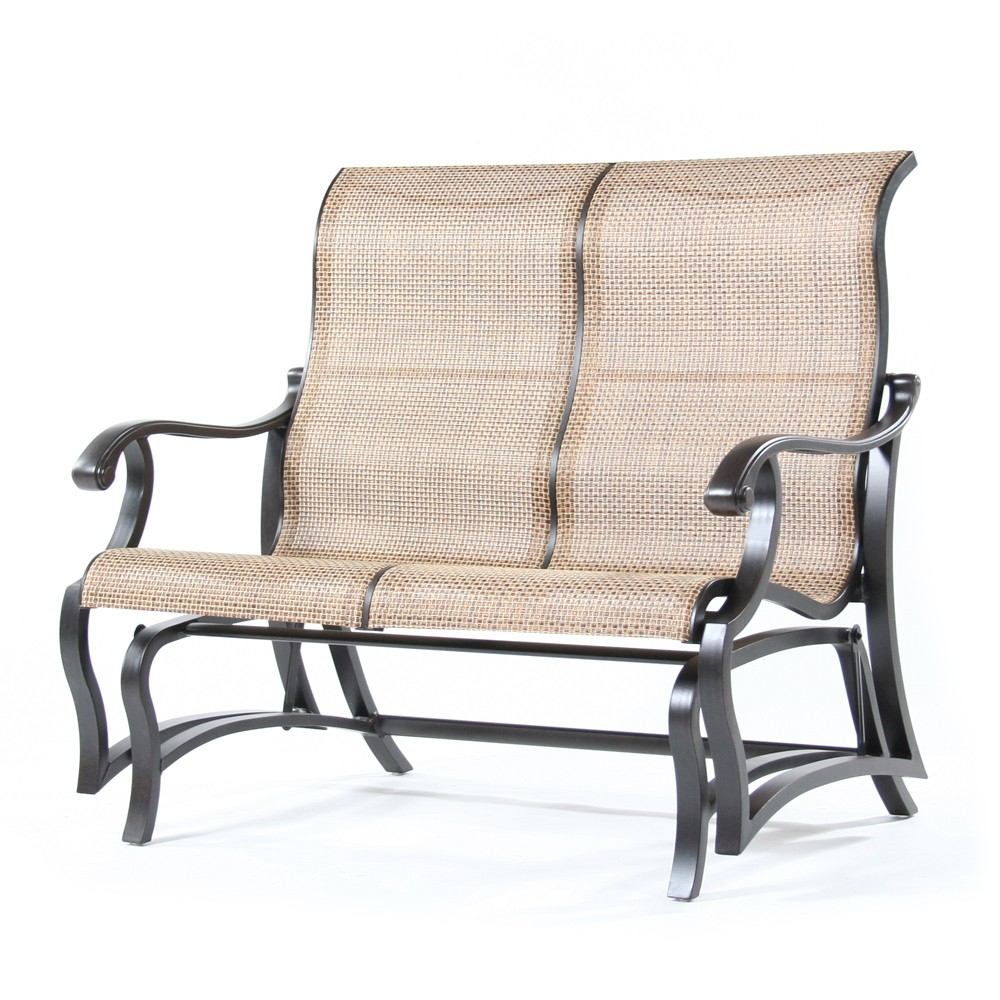 Volare Sling Double Glider | Mallin Inside Sling Double Glider Benches (Photo 6 of 25)
