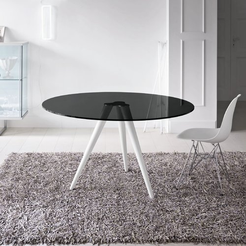Wade Logan Harbinger Dining Table | Table, Glass Dining Throughout Smoked Oval Glasstop Dining Tables (View 14 of 25)