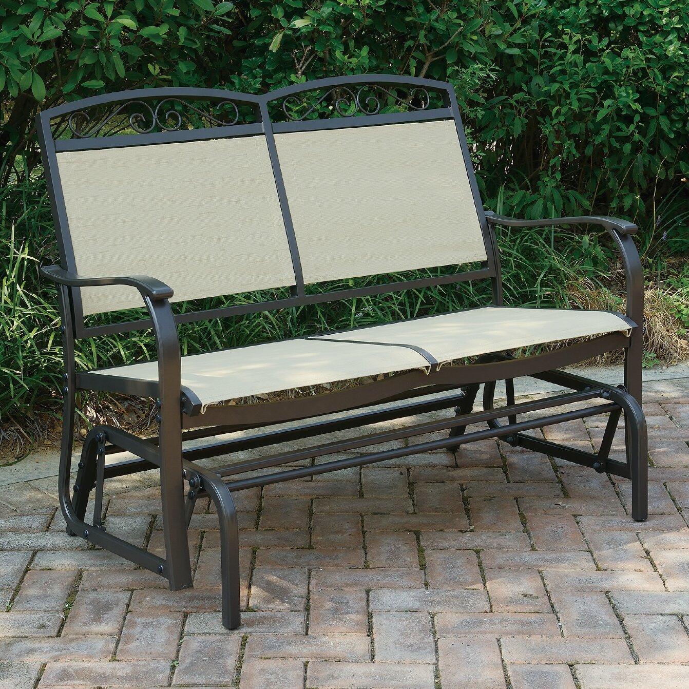 Wayzata Outdoor Fabric Glider Bench Intended For Outdoor Fabric Glider Benches (View 5 of 25)