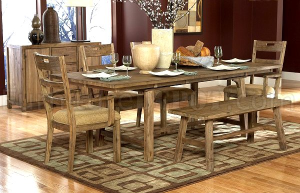 Weathered Driftwood Finish Transitional Dining Table W/options In Transitional Driftwood Casual Dining Tables (View 7 of 25)