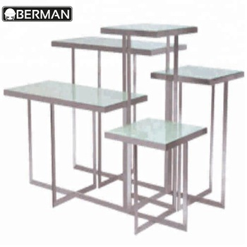 Wedding Table Decoration Tempered Rectangular Glass Top Stainless Steel Restaurant Dining Tables For Catering – Buy Tempered Glass Top Buffet Intended For Steel And Glass Rectangle Dining Tables (View 24 of 25)