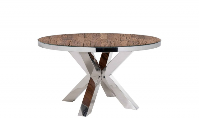Westwood – 140Cm Round Dining Table With Glass Top In Round Dining Tables With Glass Top (View 15 of 25)