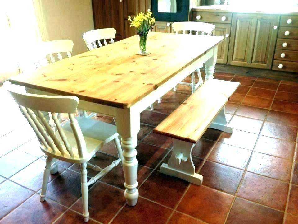 White Farmhouse Style Dining Table Bench Sets Splendid With Regard To Small Rustic Look Dining Tables (Image 25 of 25)