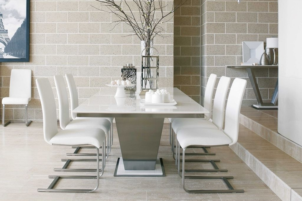 White Marble Dining Table | Gestablishment Home Ideas Throughout Dining Tables With White Marble Top (Image 21 of 25)
