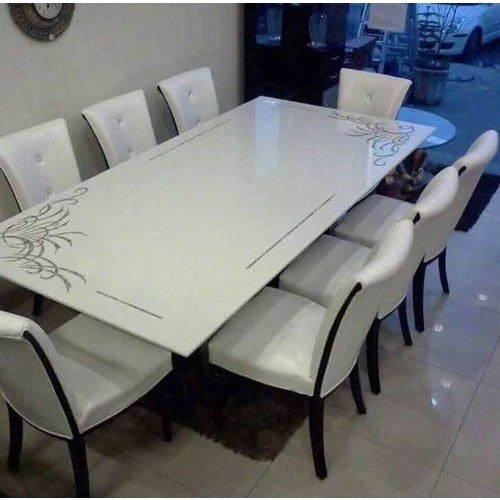 White Marble Dining Table Top Throughout Dining Tables With White Marble Top (Image 22 of 25)