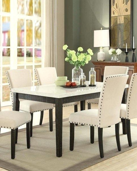 White Marble Top Dining Table – Cornesandsloane (Image 23 of 25)