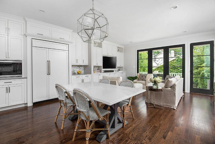 White Marble Top Dining Table With French Bistro Dining Within Dining Tables With White Marble Top (Image 24 of 25)