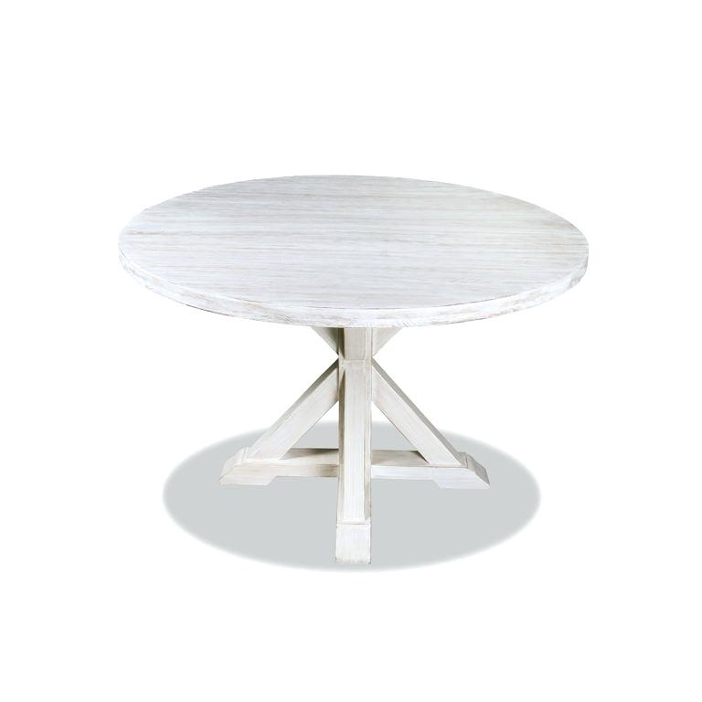White Solid Wood Dining Table Round Treasure Reclaimed In Inside Solid Wood Circular Dining Tables White (Image 25 of 25)