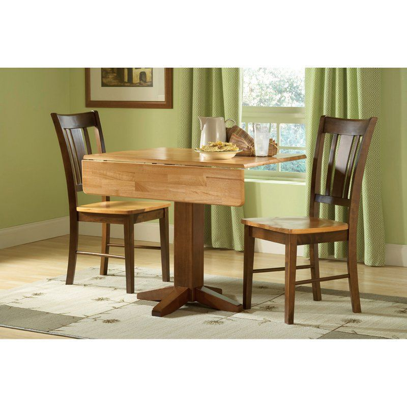 Whitewood Square Dual Drop Leaf 3 Piece Dining Table Set Regarding 3 Pieces Dining Tables And Chair Set (View 17 of 25)