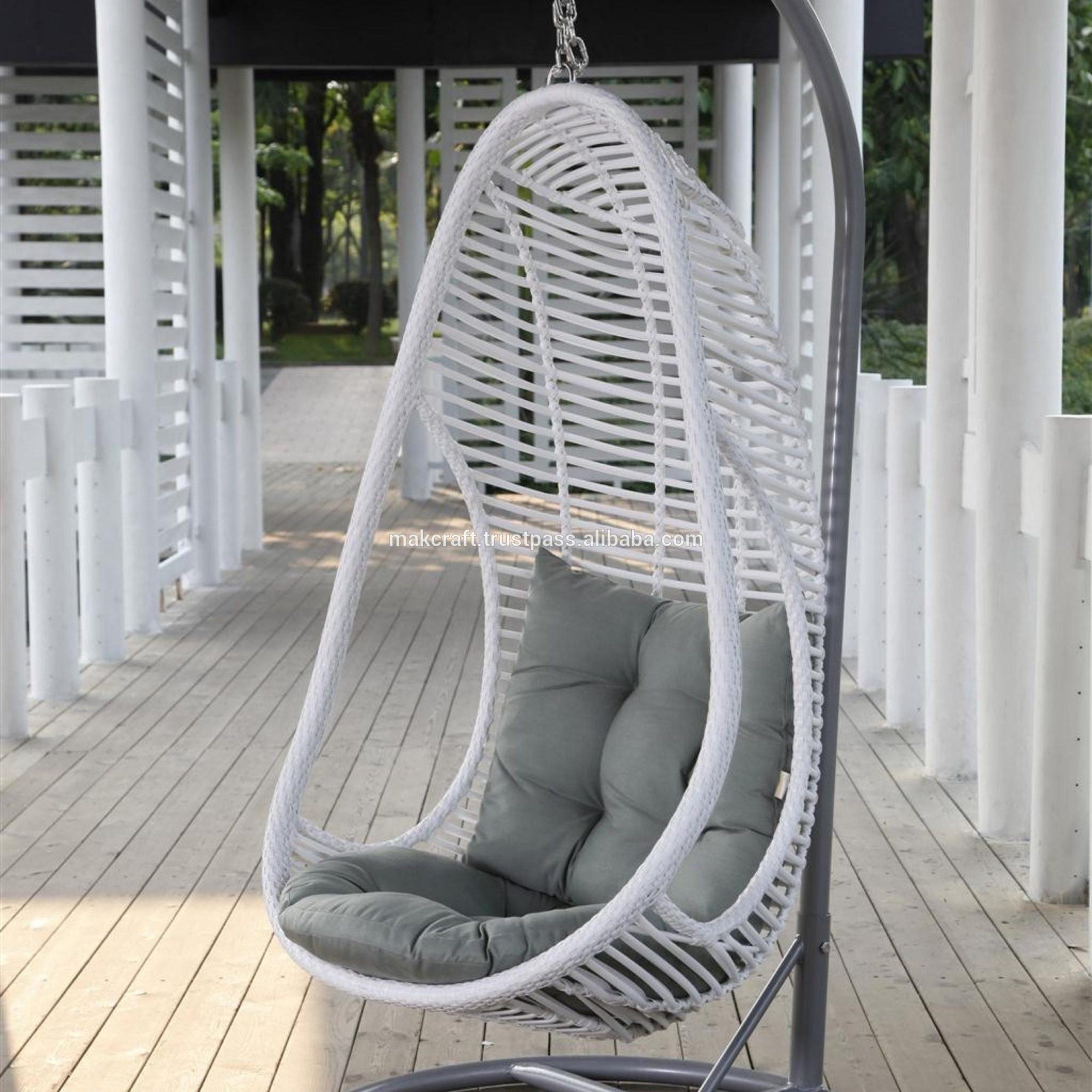 Wicker Rattan Outdoor Garden Swing Egg Chair – Garden Rattan Swing Egg Chair – Patio Swing Egg Chair With Steel Frame Furniture – Buy Wicker Hanging Throughout Rattan Garden Swing Chairs (View 5 of 25)