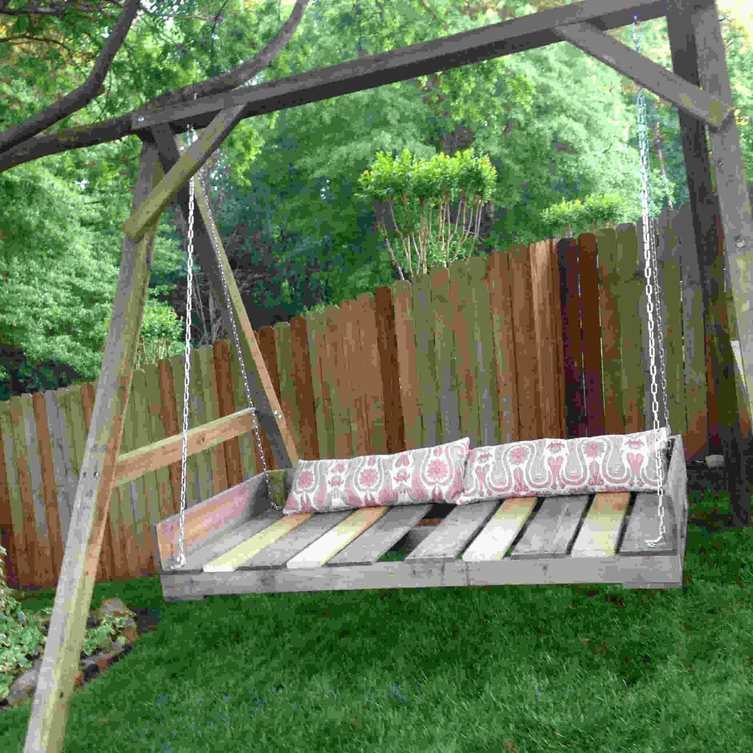 Winning Porch Swing Cushions Garden Toddler Plans Cushion Regarding Day Bed Porch Swings (Image 25 of 25)