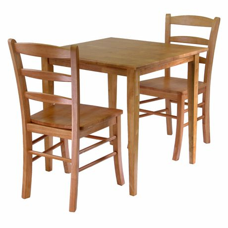 Winsome Groveland 3 Piece Dining Set, Square Table With 2 Chairs – 34330 With Regard To 3 Pieces Dining Tables And Chair Set (View 16 of 25)