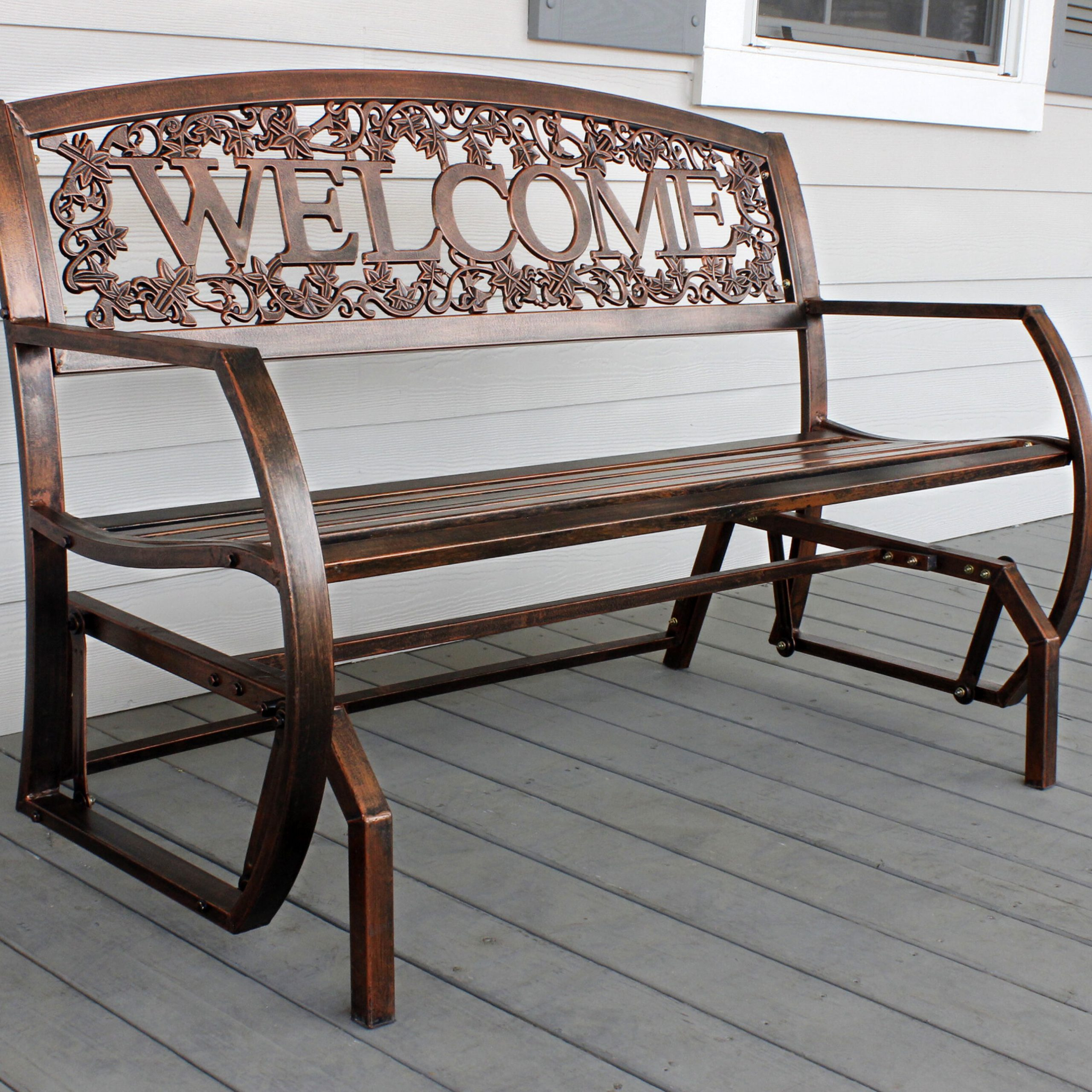Winston Porter Ohanko Welcome Double Glider Bench & Reviews With Regard To Metal Powder Coat Double Seat Glider Benches (View 17 of 25)