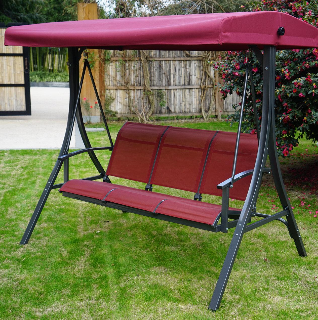 Winston Porter Otteridge Patio Porch Swing With Stand Intended For Patio Porch Swings With Stand (View 22 of 25)