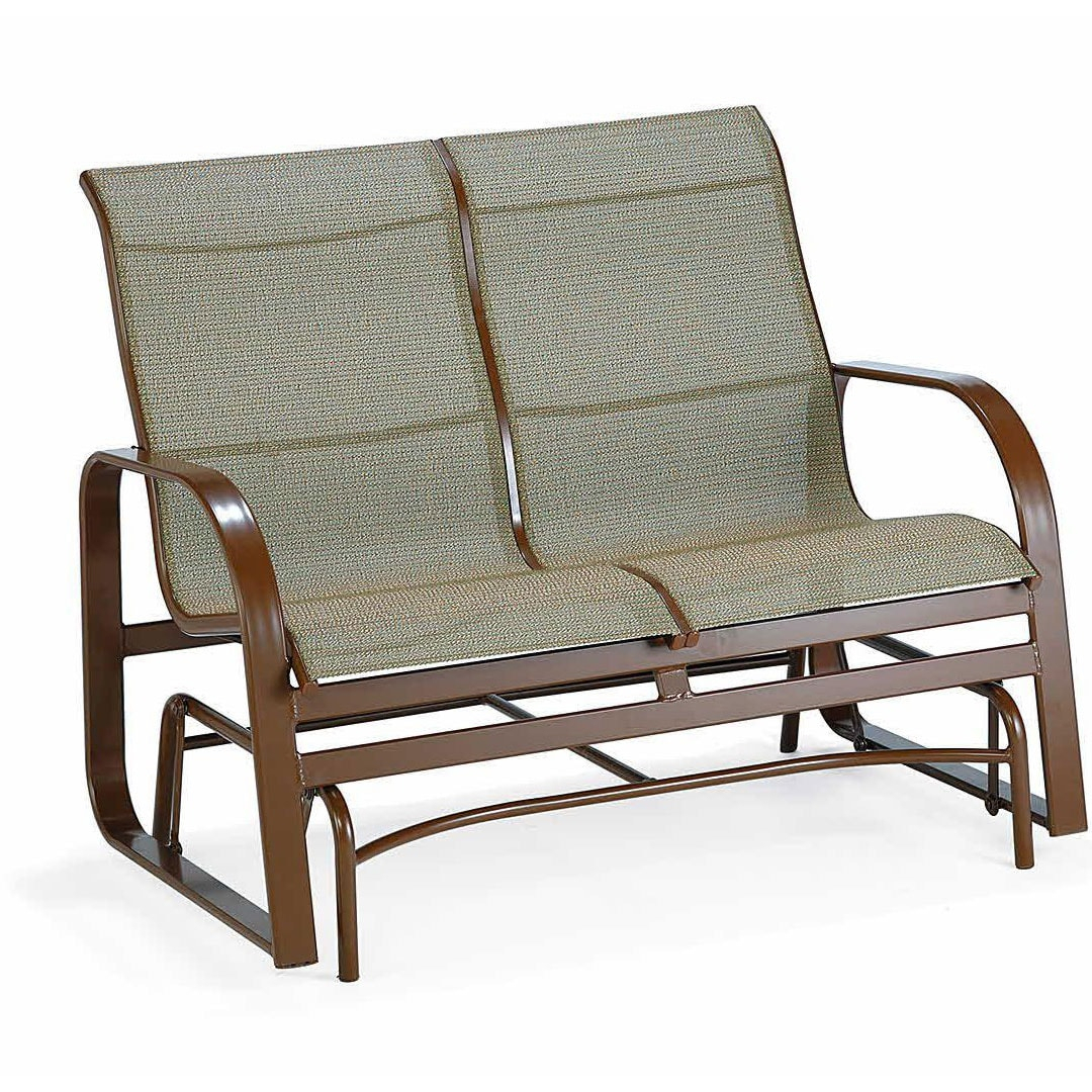 Winston Seagrove Ii Sling Loveseat Glider Outdoor Furniture Pertaining To Loveseat Glider Benches (View 7 of 25)