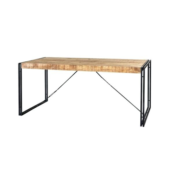 Wood And Metal Dining Table – Stichling With Iron Wood Dining Tables With Metal Legs (View 12 of 25)