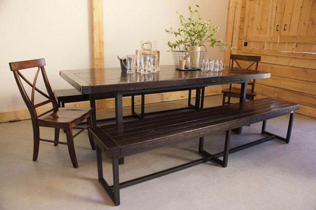 Wood & Iron Dining Table In Calgary, Alberta / Liken Woodworks Within Iron Wood Dining Tables (View 10 of 25)