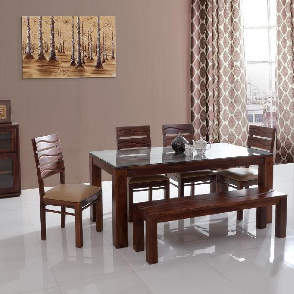 Wooden Dining Table Set With Out Dining Top Glass With Wood Top Dining Tables (View 21 of 25)